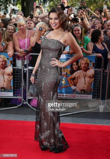"""Actress Kelly Brook attends the world premiere of """"Keith Lemon: The Film"""" at the Odeon West End on August 20, 2012 in London, United Kingdom."""