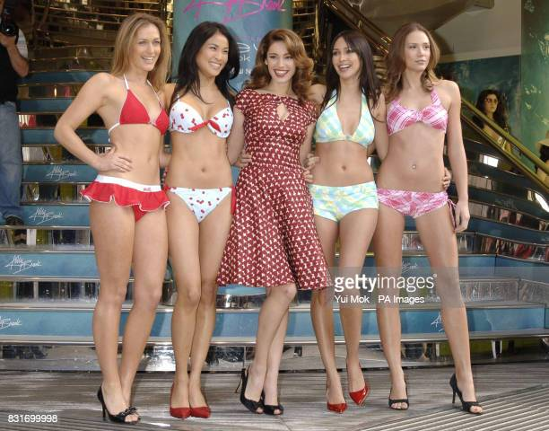 ca56ff40ad Actress Kelly Brook during the launch of her new swimwear collection for New  Look at New