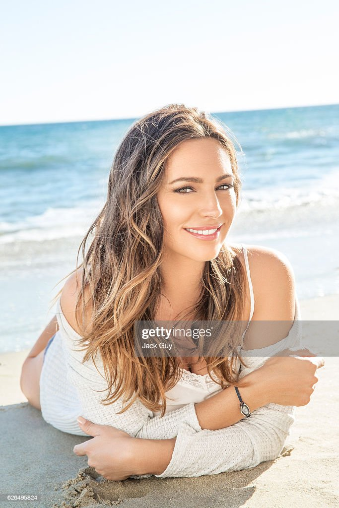 Actress Kelly Brook is photographed for Hello! UK on February 13, 2015 in Malibu, California. PUBLISHED