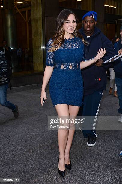Actress Kelly Brook leaves the Sirius XM Studios on April 16 2015 in New York City
