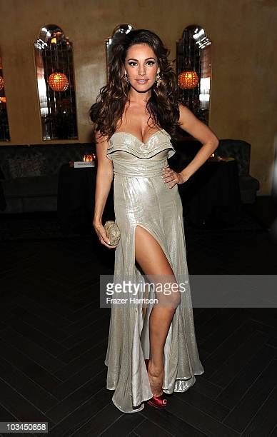 Actress Kelly Brook poses at the premiere after party of The Weinstein Company Piranha 3D at Bardot on August 18 2010 in Hollywood California