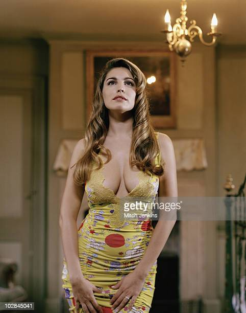 Actress Kelly Brook poses for a portrait shoot on November 12 2004 in London
