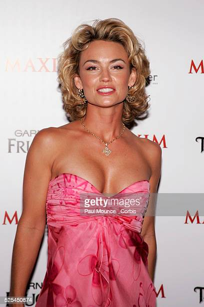 Actress Kelly Carlson #43 on Maxim Magazine's Annual Hot 100 list arrives at the celebrity party to celebrate the 2005 Maxim Hot 100 list