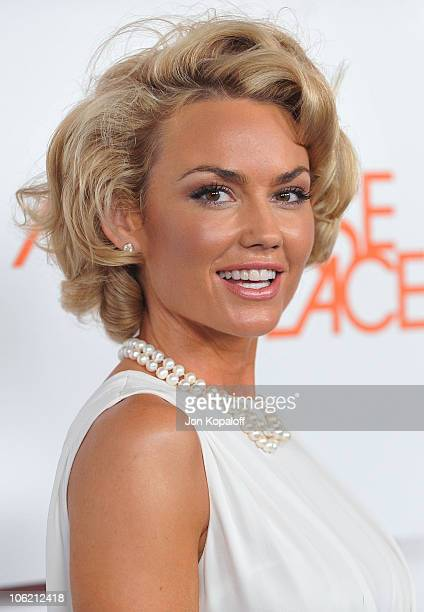 Actress Kelly Carlson arrives at the Melrose Place Premiere Party at Melrose Place on August 22 2009 in Los Angeles California