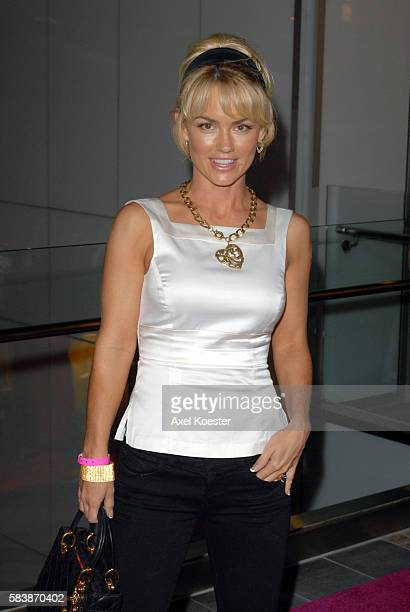 Actress Kelly Carlson arrives to the opening of Harry Morton's Pink Taco restaurant in the Westfield Century City Mall