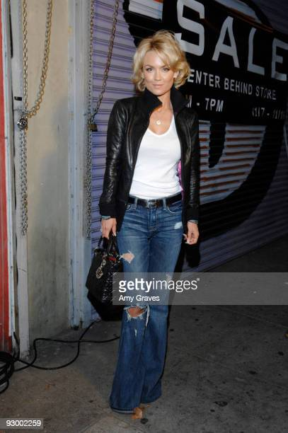 Actress Kelly Carlson attends a party hosted by D Cups Saving Tea Cups at Bark'n Bitches to Celebrate 1,000 rescued and re-homed shelter dogs on...