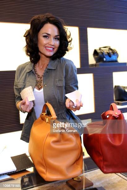 Actress Kelly Carlson attends FENDI ArandaLasch Craftsmanship Event in Beverly Hills at Fendi on March 8 2011 in Beverly Hills California