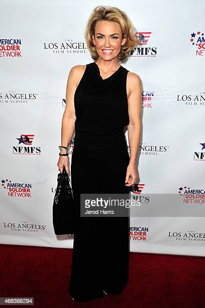 Actress Kelly Carlson attends National Foundation for Military Family Support's First Annual Salute to Heroes Service Gala at The Majestic Downtown...