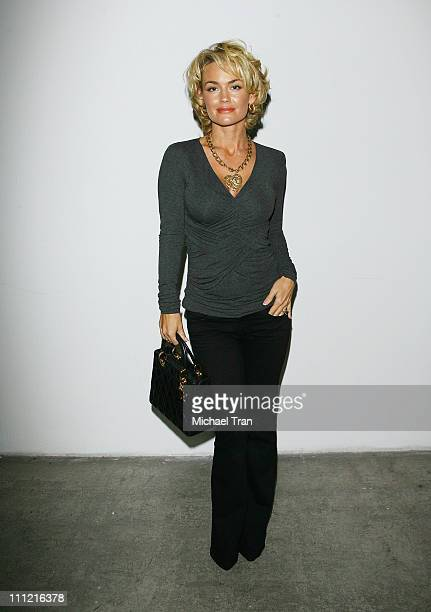 Actress Kelly Carlson frontrow and backstage at Randolph Duke Spring 2007 collection during Mercedes Benz Fashion Week Spring 2007 on October 14,...