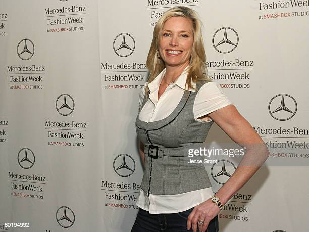 Actress Kelly Emberg attends MercedesBenz Fashion Week held at Smashbox Studios on March 10 2008 in Culver City California