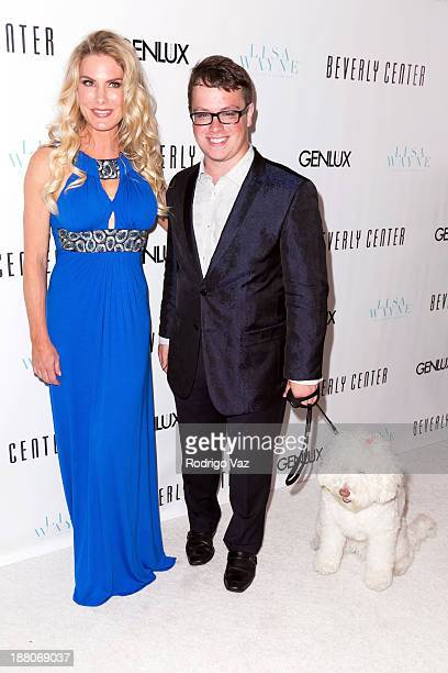 Actress Kelly Greyson and singer Jonathan Allen attend as Genlux cover girl Lisa Vanderpump hosts the magazine's new issue launch party on November...