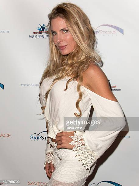 """Actress Kelly Greyson arrives at Skipstone Pictures' """"Saved By Grace"""" - Arrivals at Raleigh Studios on October 14, 2015 in Los Angeles, California."""