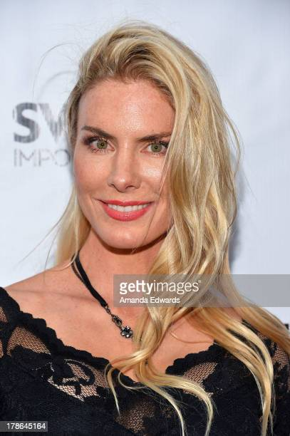 Actress Kelly Greyson arrives at the Genlux Magazine release party with Erika Christensen at Sofitel Hotel on August 29, 2013 in Los Angeles,...