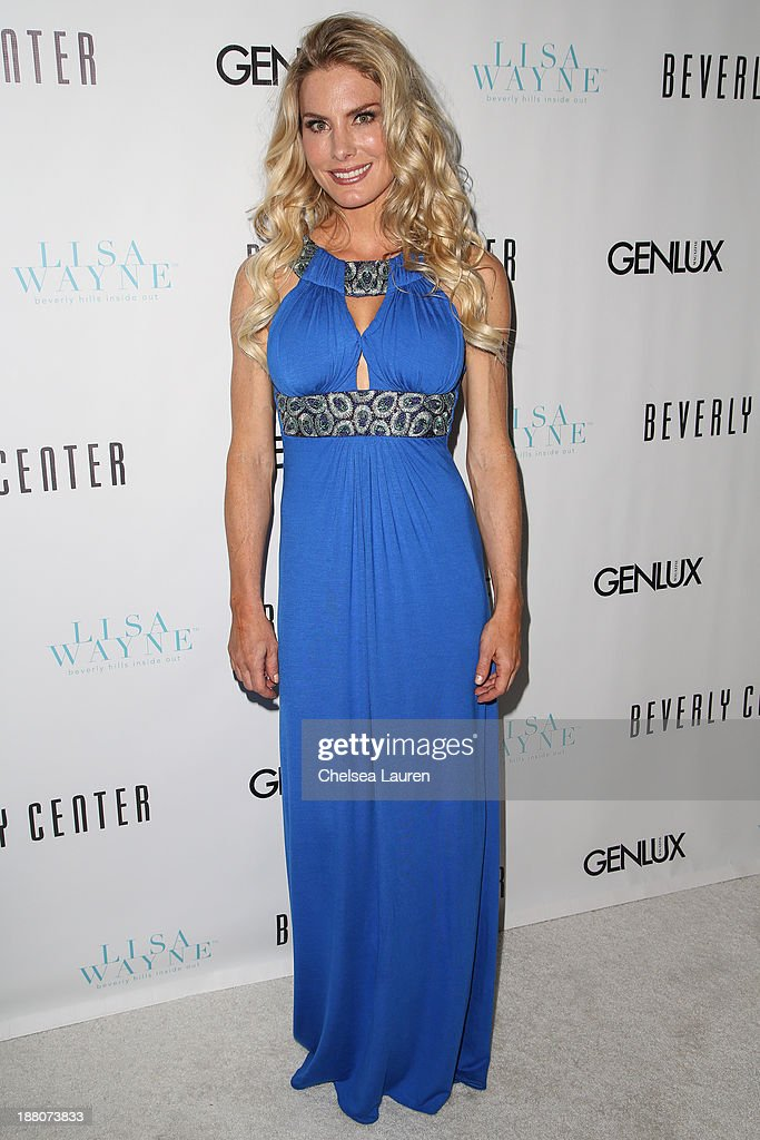 Actress Kelly Greyson arrives at the Genlux new issue launch party hosted by Lisa Vanderpump on November 14, 2013 in Beverly Hills, California.