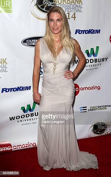 Actress Kelly Greyson attends the Burbank International Film Festival opening night at AMC Burbank 16 on September 3 2014 in Burbank California