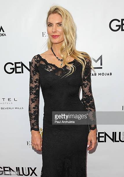 Actress Kelly Greyson attends the Genlux Magazine release party at Sofitel Hotel on August 29 2013 in Los Angeles California
