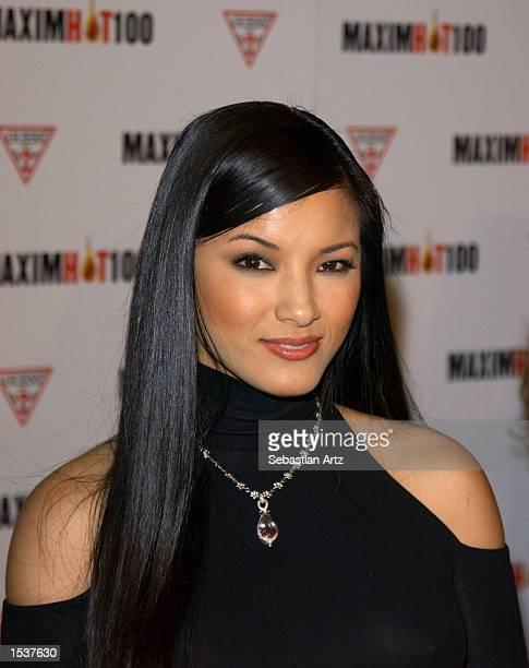 Actress Kelly Hu arrives at Maxim's Hot100 party April 25 2002 in Los Angeles CA