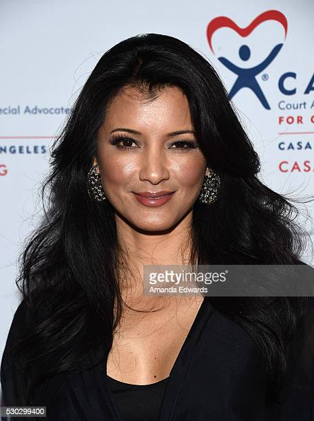 Actress Kelly Hu arrives at the CASA of Los Angeles' 2016 Evening to Foster Dreams Gala at The Beverly Hilton Hotel on May 10 2016 in Beverly Hills...