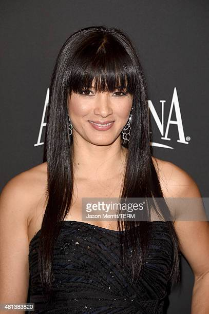 Actress Kelly Hu attends the 2015 InStyle And Warner Bros 72nd Annual Golden Globe Awards PostParty at The Beverly Hilton Hotel on January 11 2015 in...