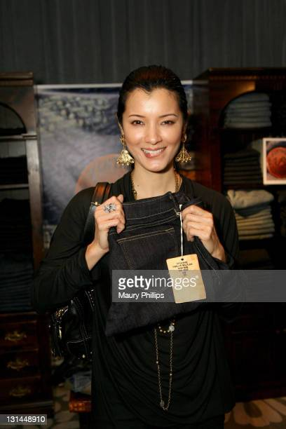 Actress Kelly Hu attends the Access Hollywood 'Stuff You Must' Lounge produced by On 3 Productions at the Sofitel Hotel on January 14 2011 in Los...