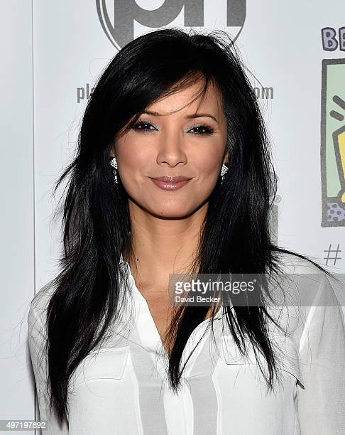 Actress Kelly Hu attends the All In for Best Buddies celebrity poker tournament at Planet Hollywood Resort Casino on November 14 2015 in Las Vegas...
