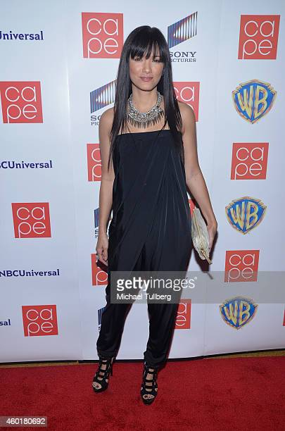Actress Kelly Hu attends the CAPE Holiday Party at El Rey Theatre on December 8 2014 in Los Angeles California