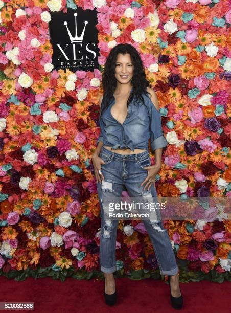 Actress Kelly Hu attends XES Sip Shop Slay at Therapy LA on July 20 2017 in Los Angeles California