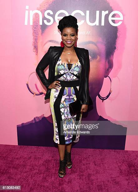 """Actress Kelly Jenrette arrives at the premiere of HBO's """"Insecure"""" at the Nate Holden Performing Arts Center on October 6, 2016 in Los Angeles,..."""