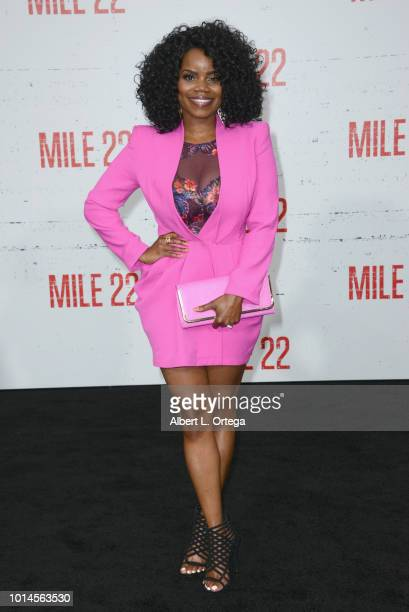 Actress Kelly Jenrette arrives for the Premiere Of STX Films' 'Mile 22' held at Westwood Village Theatre on August 9 2018 in Westwood California