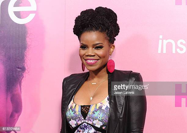 """Actress Kelly Jenrette attends the premiere of """"Insecure"""" at Nate Holden Performing Arts Center on October 6, 2016 in Los Angeles, California."""