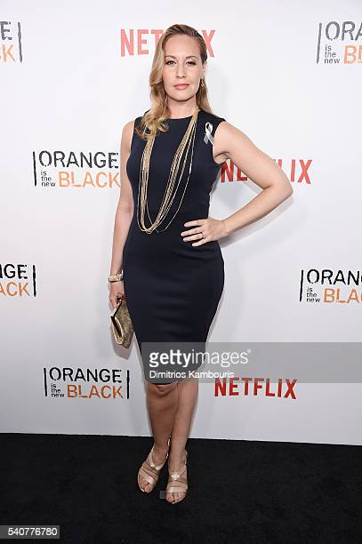 Actress Kelly Karbacz attends 'Orange Is The New Black' premiere at SVA Theater on June 16 2016 in New York City