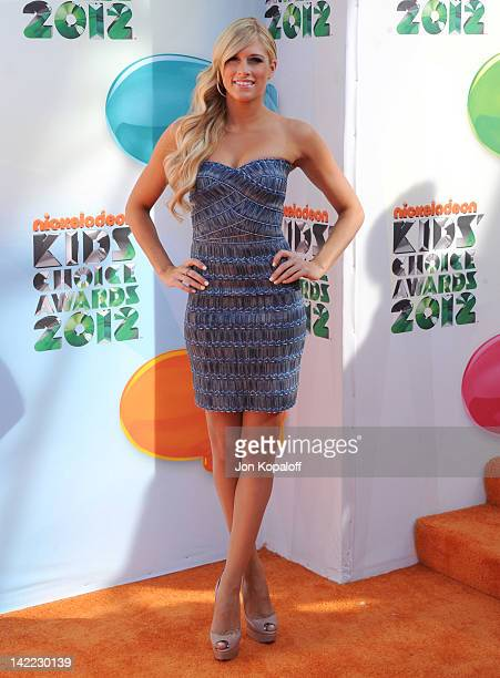 Actress Kelly Kelly arrives at the 2012 Nickelodeon's Kids' Choice Awards held at the Galen Center on March 31 2012 in Los Angeles California