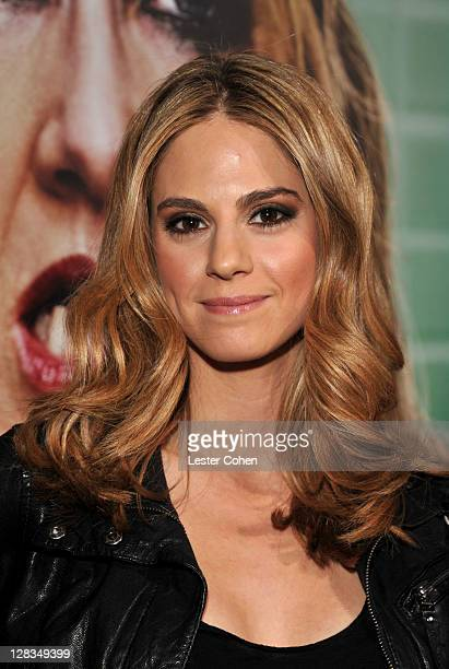 Actress Kelly Kruger arrives at HBO's Enlightened Los Angeles premiere at Paramount Theater on the Paramount Studios lot on October 6 2011 in...