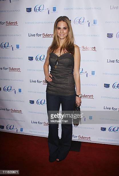 Actress Kelly Kruger arrives at the Live For Sderot a benefit concert for Israel's 60th Anniversary of Independence celebration in the United States...