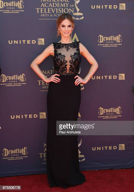Actress Kelly Kruger attends the 44th annual Daytime Emmy Awards at Pasadena Civic Auditorium on April 30 2017 in Pasadena California