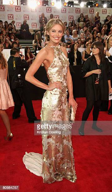 Actress Kelly Landry arrives on the red carpet at the 50th Annual TV Week Logie Awards at the Crown Towers Hotel and Casino on May 4 2008 in...