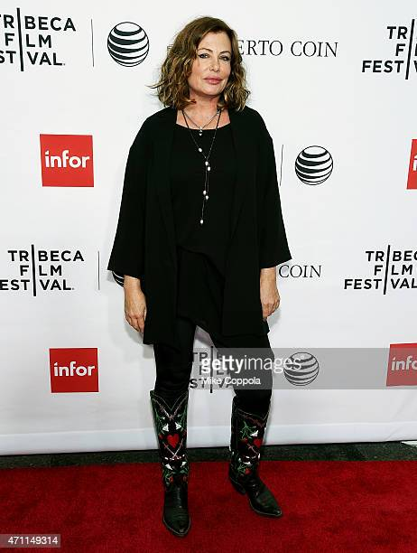 Actress Kelly LeBrock attends the closing night screening of Goodfellas during the 2015 Tribeca Film Festival at Beacon Theatre on April 25 2015 in...