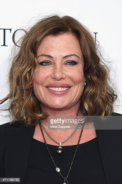 Actress Kelly LeBrock attends the Tribeca Film Festival's closing night 25th anniversary of Goodfellas cosponsored by Infor and Roberto Coin during...