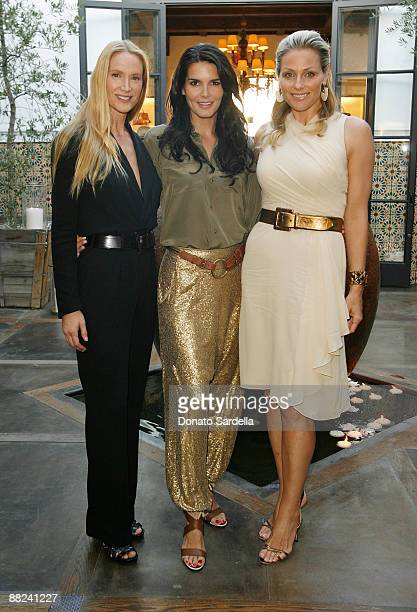 Actress Kelly Lynch actress Angie Harmon and Jamie Tisch attend the Pamela Fioris book signing presented by Ralph Lauren on April 21 2009 in Los...
