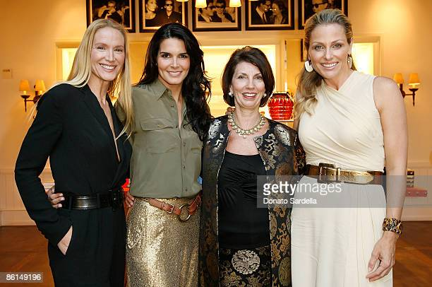 Actress Kelly Lynch actress Angie Harmon Pamela Fiori and Jamie Tisch attend the Pamela Fioris book signing presented by Ralph Lauren on April 21...