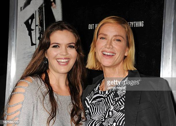Actress Kelly Lynch and daughter Shane Lynch arrive at the Los Angeles premiere of 'Captain Phillips' at the Academy of Motion Picture Arts and...