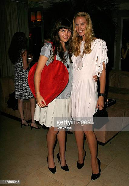 Actress Kelly Lynch and daughter Shane Lynch at the Conde Nast Pre Movies Rock Event at Sunset Tower on December 1 2007 in Los Angeles California