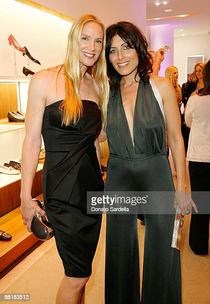Actress Kelly Lynch and Lisa Edelstein attend the Ferragamo event with Debi Mazar and Adrian Grenier to benefit the L'Aquila earthquake victims at...