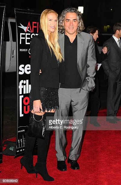 Actress Kelly Lynch and producer Mitch Glazer arrive at the AFI FEST 2009 screening of the Weinstein Company's A Single Man on November 5 2009 in...