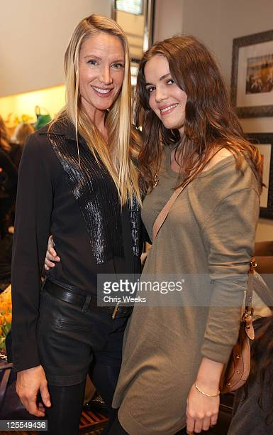 Actress Kelly Lynch and Shane Lynch attend a lunch with Derek Lam benefitting MOCA at Tods Beverly Hills Boutique on November 19 2010 in Beverly...