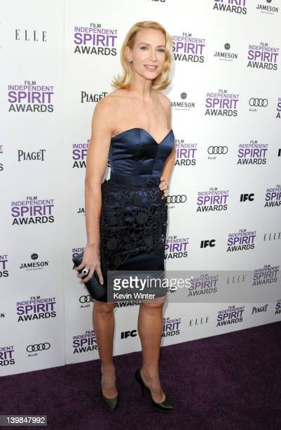 Actress Kelly Lynch arrives at the 2012 Film Independent Spirit Awards on February 25 2012 in Santa Monica California