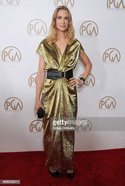 Actress Kelly Lynch arrives at the 27th Annual Producers Guild Awards at the Hyatt Regency Century Plaza on January 23, 2016 in Century City,...