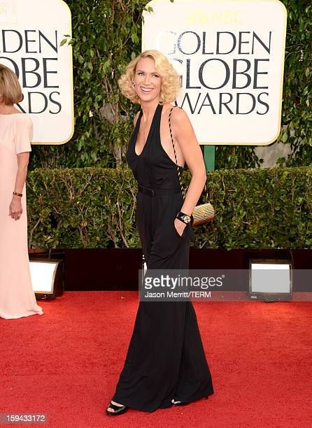 Actress Kelly Lynch arrives at the 70th Annual Golden Globe Awards held at The Beverly Hilton Hotel on January 13 2013 in Beverly Hills California