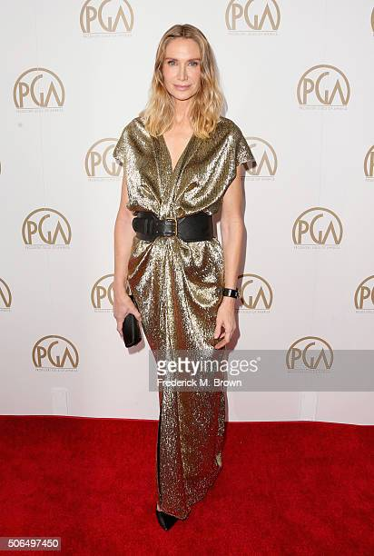 Actress Kelly Lynch attends 27th Annual Producers Guild Of America Awards at the Hyatt Regency Century Plaza on January 23, 2016 in Century City,...