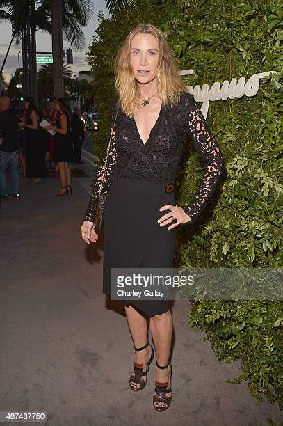 Actress Kelly Lynch attends as Ferragamo Celebrates 100 Years in Hollywood at the newly unveiled Ferragamo boutique on September 9 2015 in Beverly...
